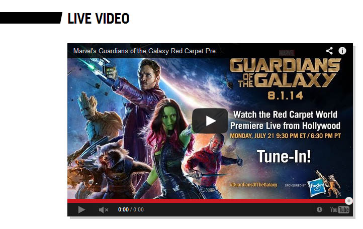 Guardians of the Galaxy - Weltpremiere excluding Germany