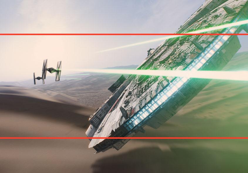 Star Wars - Das Erwachen der Macht - Vergleich IMAX Widescreen