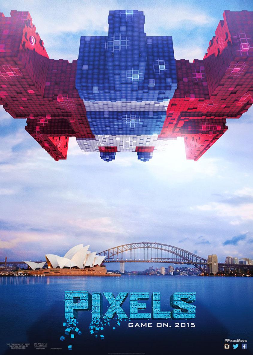 Pixels - Galaga - Sydney - Plakat