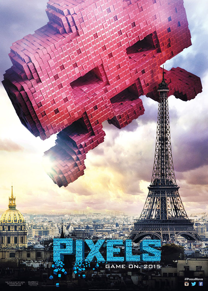Pixels- Space Invaders - Paris - Plakat