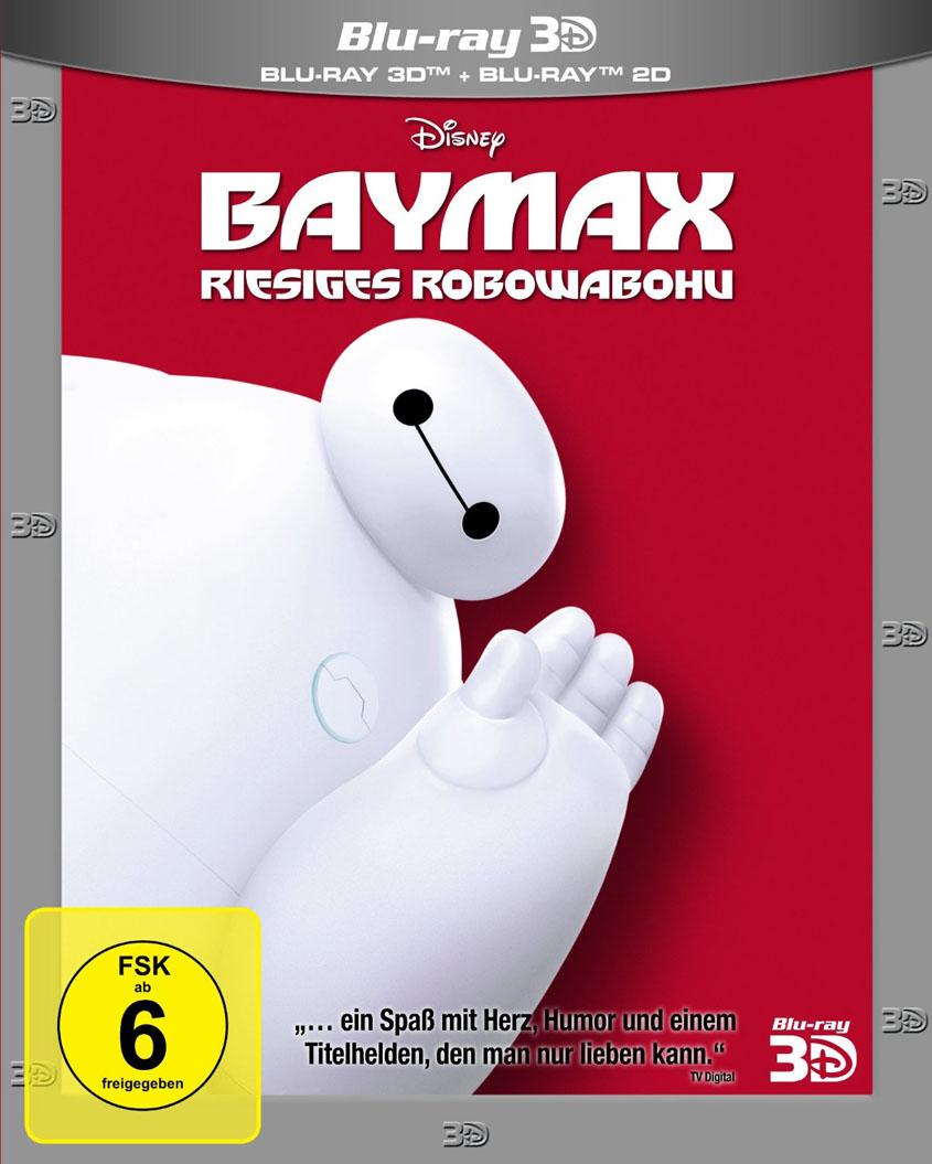 Baymax -Riesiges Robowabohu Cover Blu-ray 3D