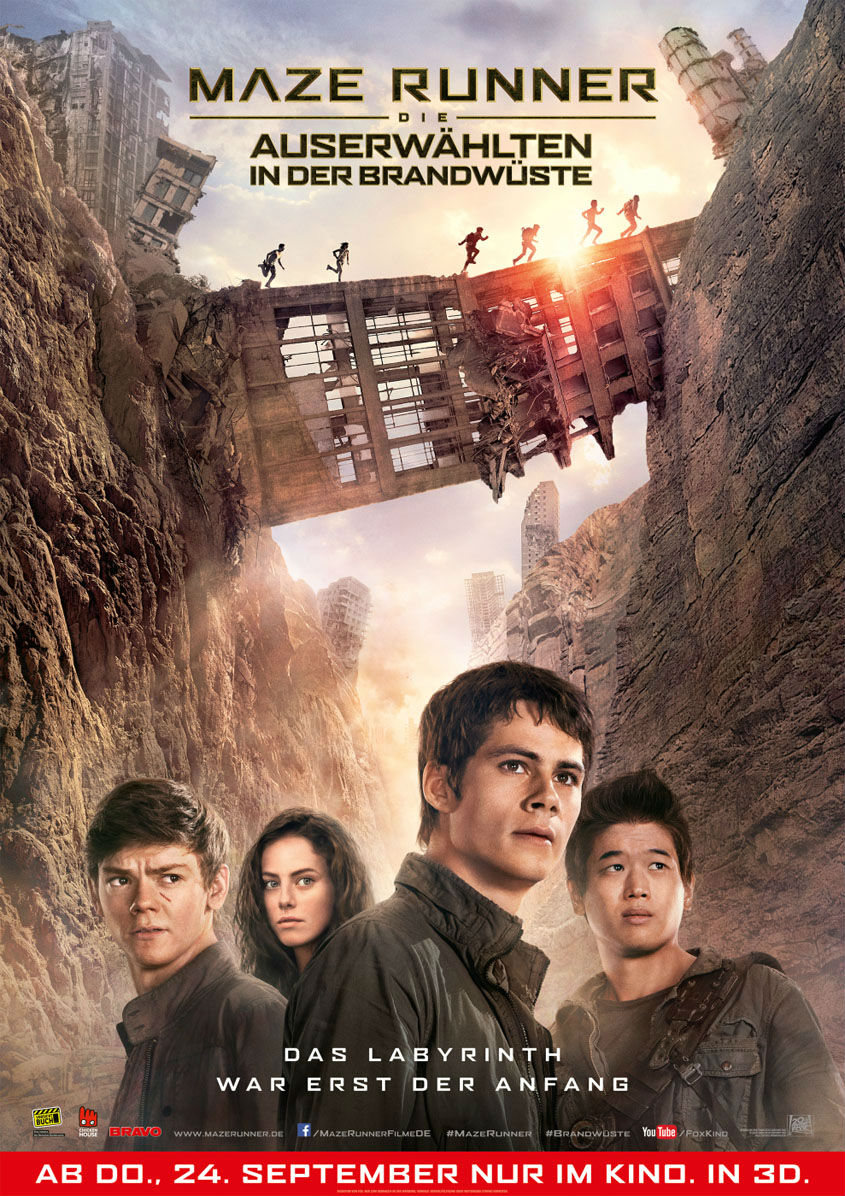 Maze Runner- Die Auserwählten in der Brandwüste - Plakat
