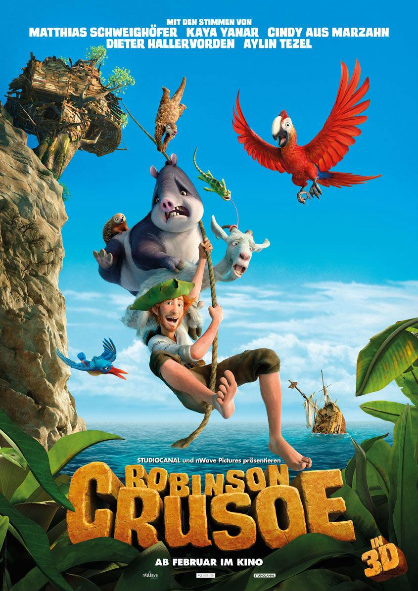 Robinson Crusoe 3D - Plakat