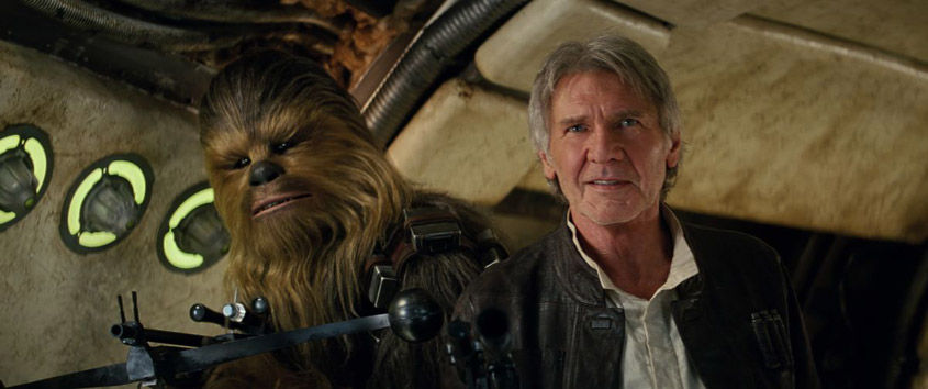 Star Wars - Das Erwachen der Macht- Szenenbild 13- Chewbacca Han Solo