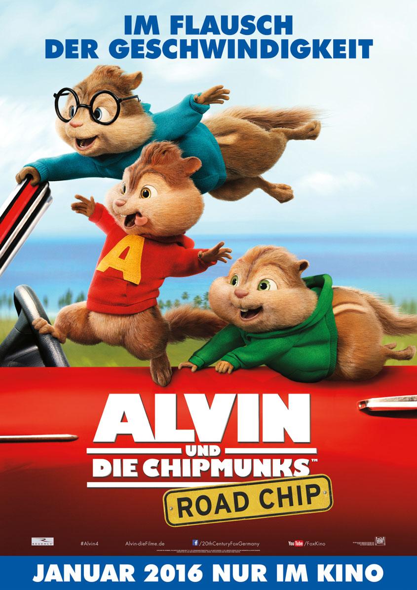 Alvin 4 Alvin und die Chipmunks Road Chip- Poster