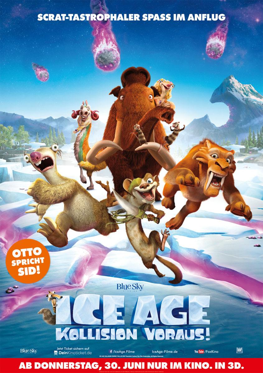 Ice Age 5- Kollision voraus - 3D- Plakat