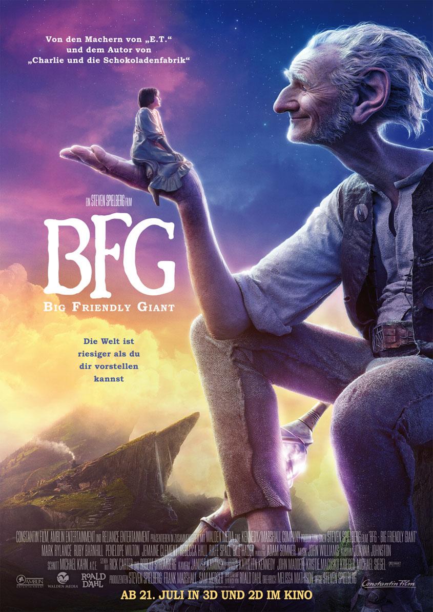 BFG - Big Friendly Giant -Plakat