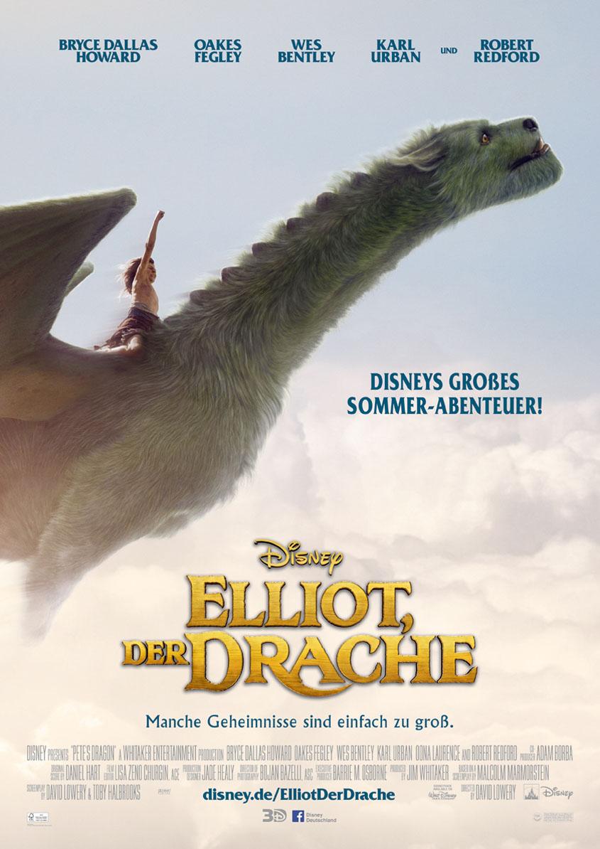Elliot der Drache - 3D- Plakat