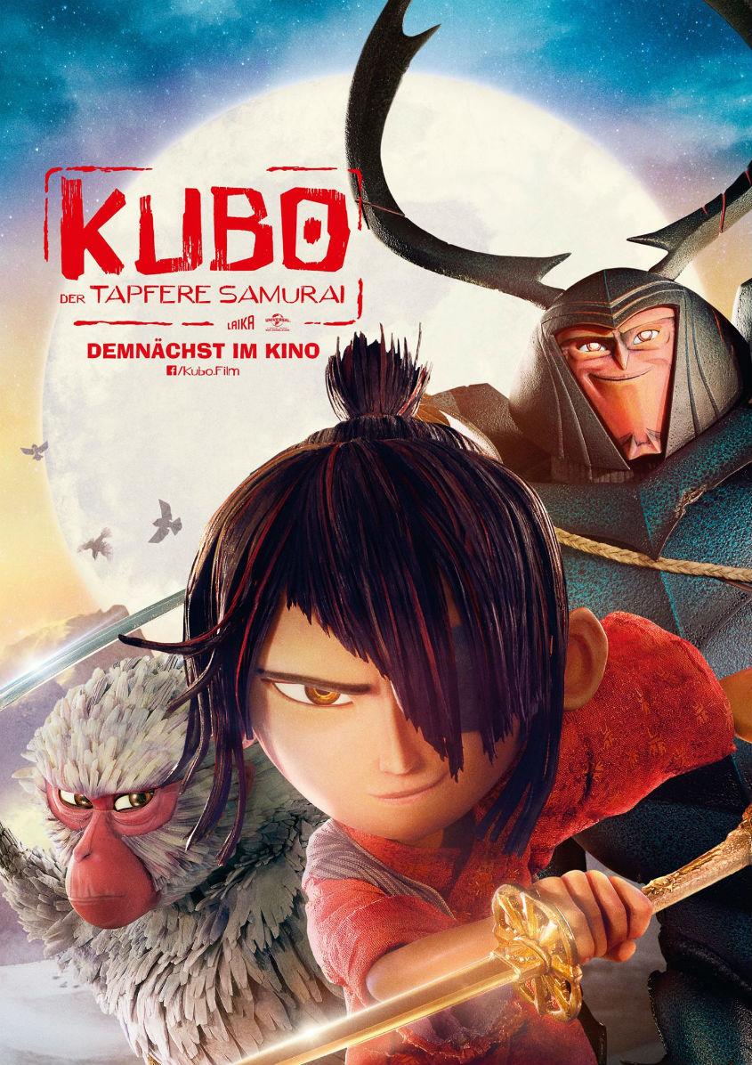 Kubo der tapfere Samurai -Plakat.