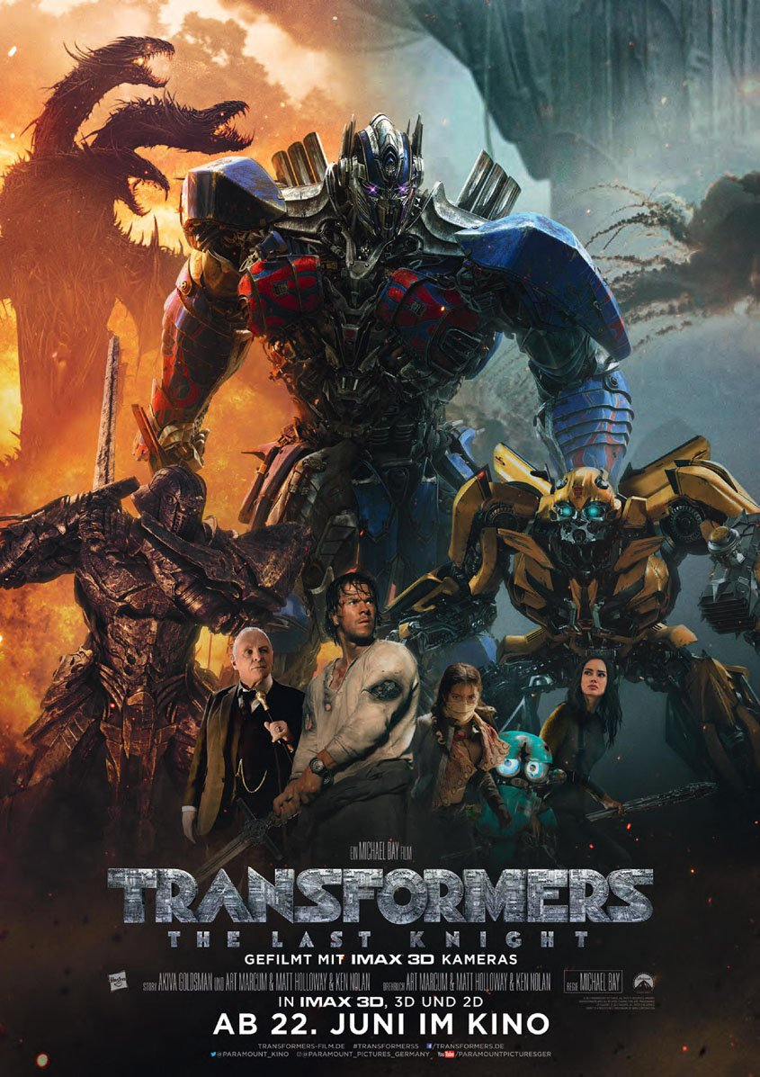 Transformers -The Last Knight - 3D - Plakat