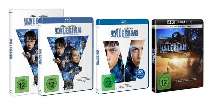 Valerian BD UHD BD3D DVD