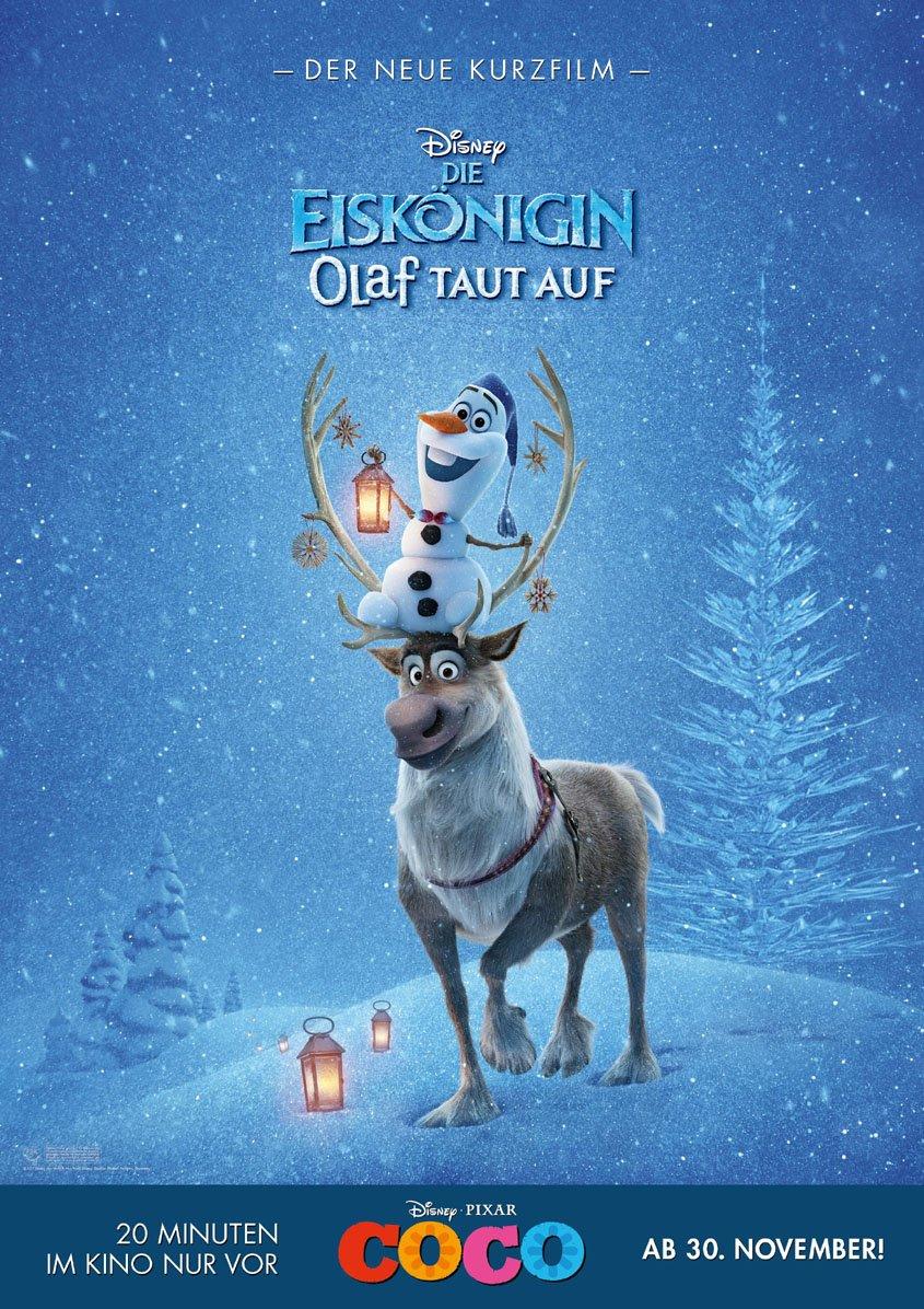 Frozen- Eiskönigin- Kurzfilm Olaf taut auf- Plakat