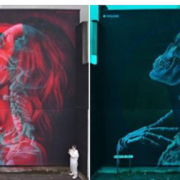 Insane 51- Anaglyph Mural