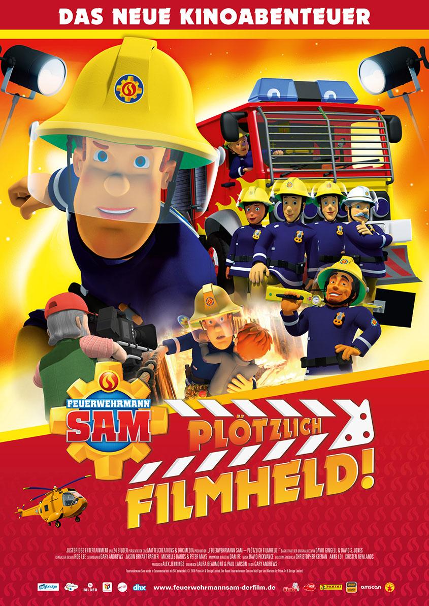 Feuerwehrmann Sam_Ploetzlich Filmheld_Plakat