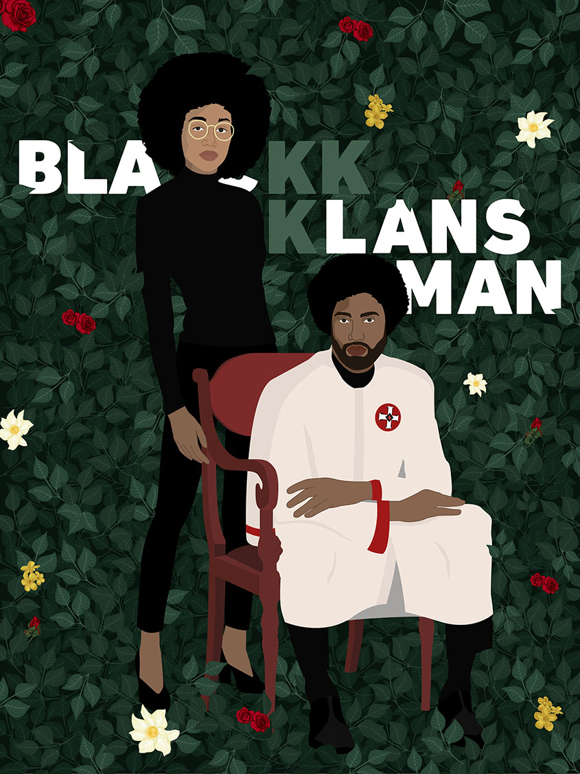 BlacKkKlansman, inspired by Kehinde Wiley