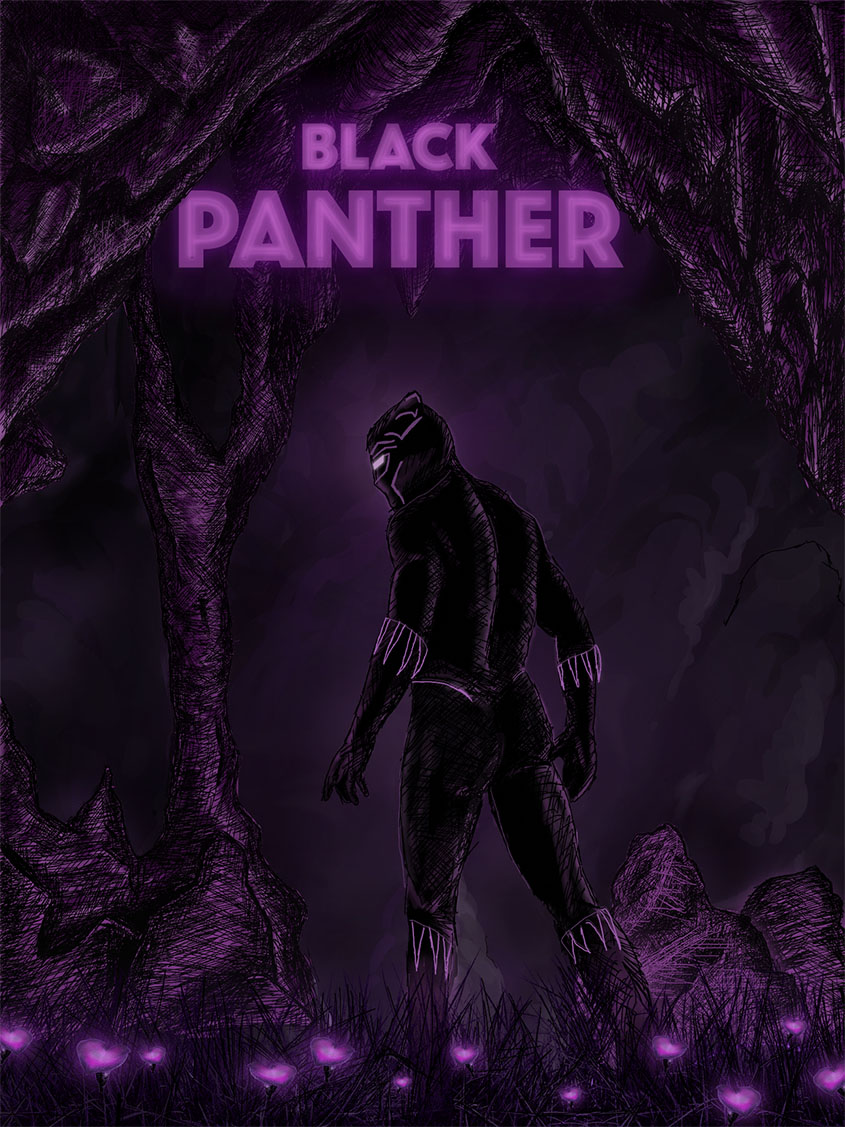 Black Panther, inspired by Daniel Danger