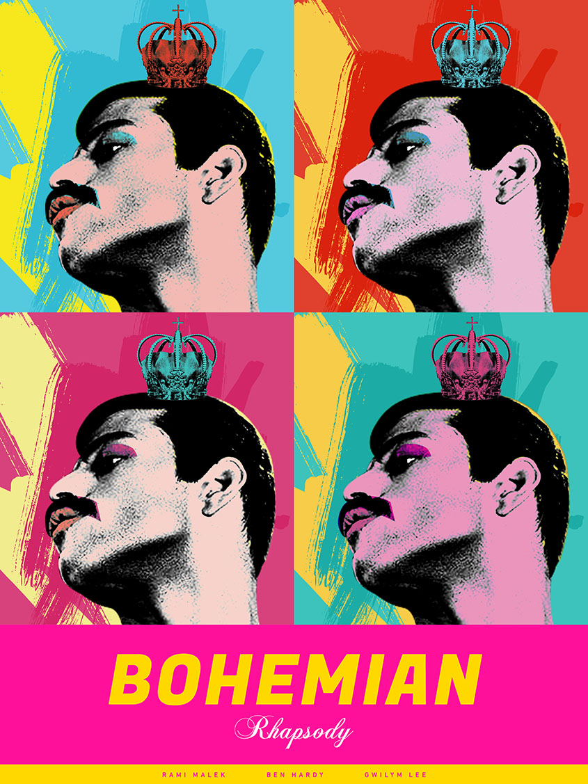 Bohemian Rhapsody, inspired by Andy Warhol