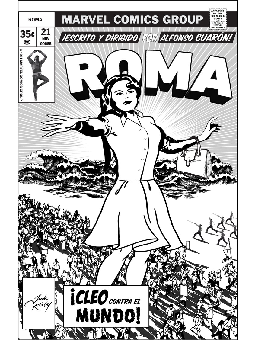 Roma, inspired by Jack Kirby