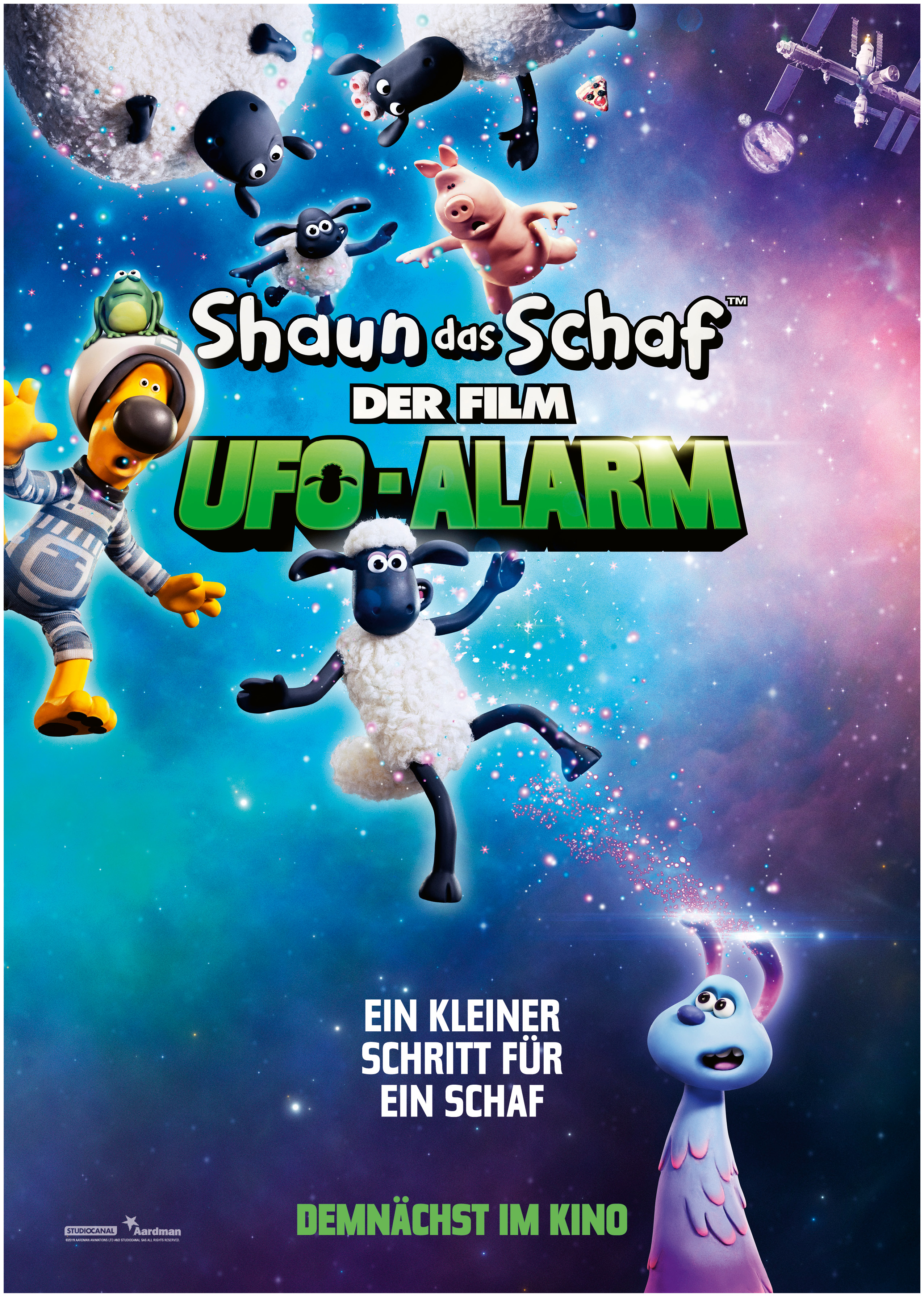 Shaun Das Schaf Ufo Alarm Plakat2 Digitaleleinwand