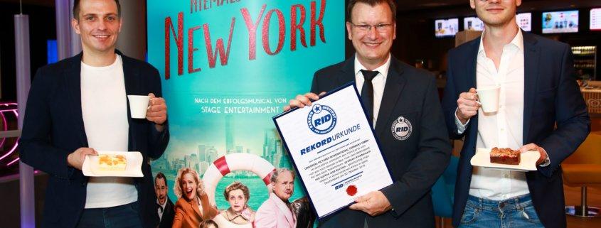Weltrekord Ich war noch niemals in New York